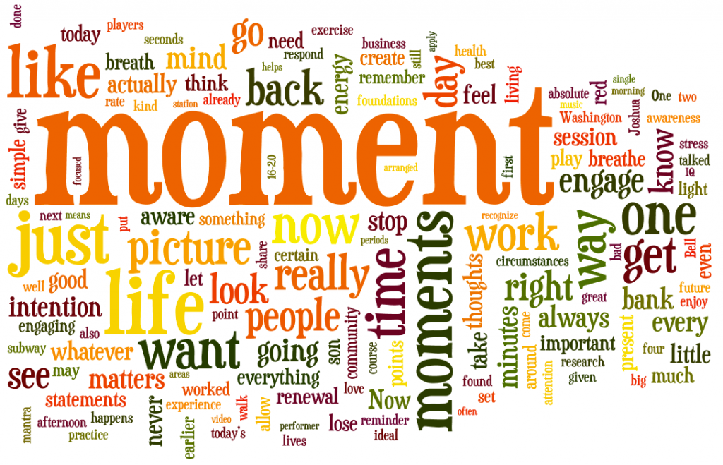 This Moment Matters Presentation Word Cloud
